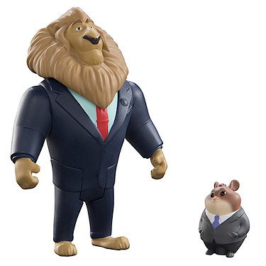 Disney Zootropolis Action Figure 2 Pack - Mayor Lionheart & Lemming Businessman