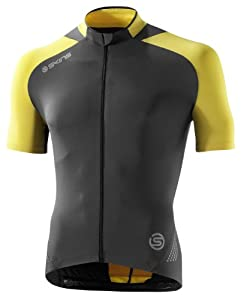 Skins Cycle C400 Mens Short Sleeve Jersey XL Yellow Grey by Skins