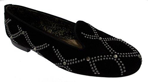 paperina ballerina pantofolina camoscio nero borchie art 3505 34 nero