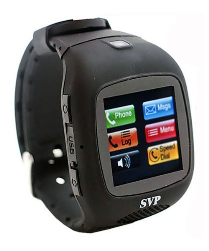 SVP G13 (With Micro 4gb) Black Camera GSM Quad-band Smart Watch Phone ~ Unlocked ~