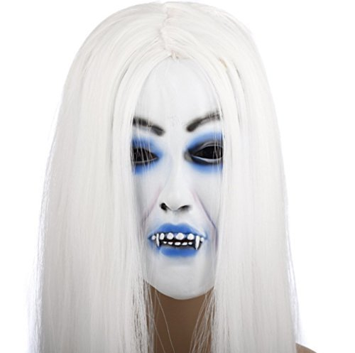 Snow Woman white hair witch horror mask (japan import)