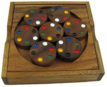 Cheap Winshare and Games Circles Color Match Brain Teaser Wood Puzzle (B005IDO744)