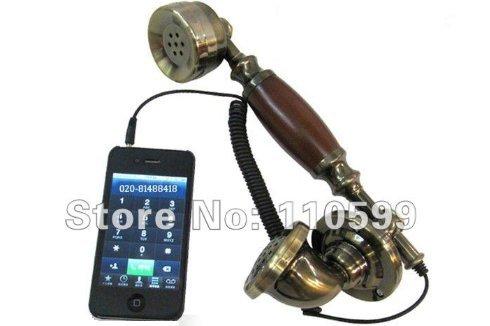 VIVISKY Retro Phone,3.5mm Classic Desk Telephone Retro Phone Corded Handset for Apple iPhone