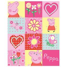 Amazon.com: Peppa Pig Fleece Hearts Blanket: Video Games