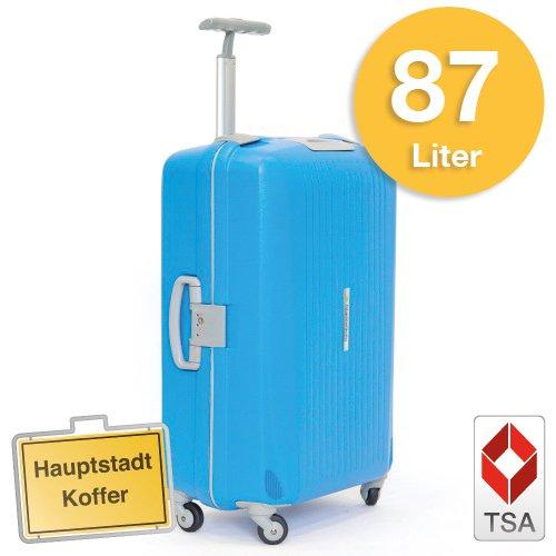 Hartschalen Koffer Blau/Grau Matt max.87 Liter