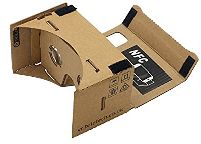 Google Cardboard 45mm Focale réalité virtuelle Google Cardboard avec instructions imprimées et onglets numérotés très faciles à suivre (NFC et HEAD-STRAP GRATUIT) Kit complet avec NFC, chef-sangle, pré-construit et assemblé en quelques second...