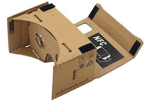 Google Cardboard kit @ 45mm Focal Length - Brown Version with NFC Tag and Headstrap