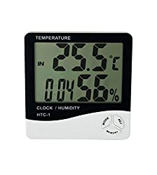 MCP Digital Room Thermometer with Humidity Indicator And Clock