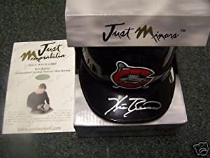 Kris Benson Carolina Mudcats Signed Mini Helmet W COA by Hollywood Collectibles