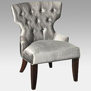 Lustrous Velvet Accent Chair