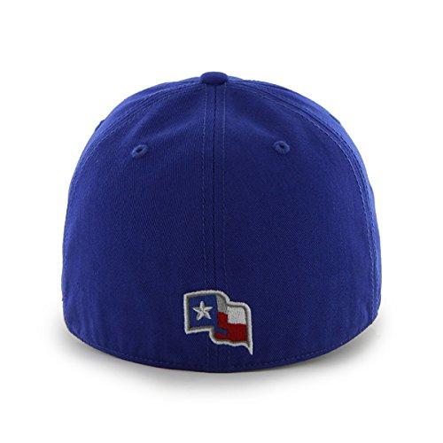 Texas Rangers 47 Brand Franchise Blue White Logo T Flag Back Hat Cap (S)