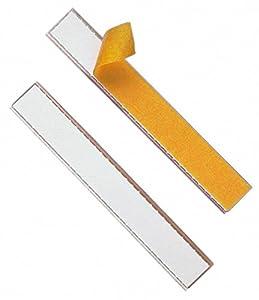 Durable 802019 Schilderrahmen Schildfix, mit Blanko-Einsteckschild, 200 x 20 mm, 10 Stück