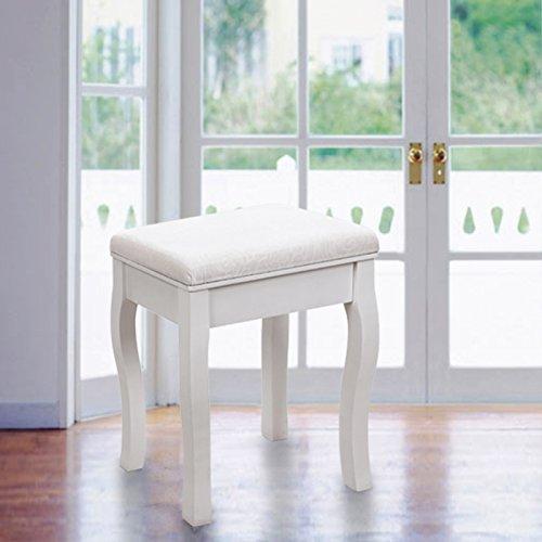songmics sgabello tavolo trucco sgabello per tavolo da trucco toeletta bianco rds50w. Black Bedroom Furniture Sets. Home Design Ideas