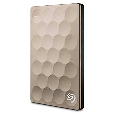 Seagate Backup Plus Ultra Slim 2TB Portable External Hard Drive Platinum STEH2000100 Gold 2TB