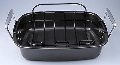 SunCity Non-stick Roaster with Rack, Graphite Grey