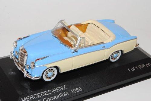 Mercedes-Benz 220SE Cabrio Blau W128 1956-1960 1/43 Whitebox Modell Auto