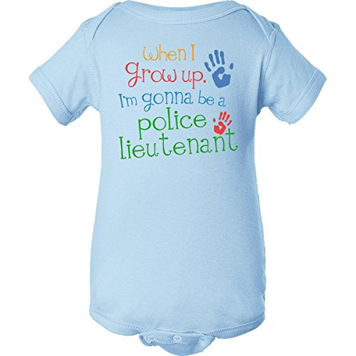 Inktastic Unisex Baby Police Lieutenant Future Infant Creeper Newborn Baby Blue front-1025467