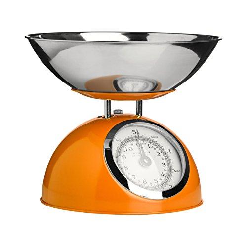 Premier Housewares 0807282 Balance de Cuisine Electronique avec Bol Acier Inoxydable Orange