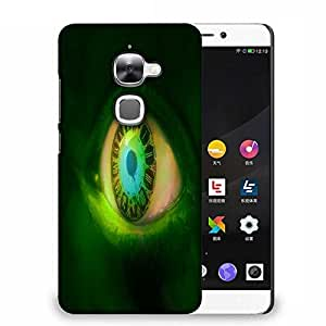Snoogg clock in a green eye 2605 Designer Protective Back Case Cover For Samsung Galaxy J1