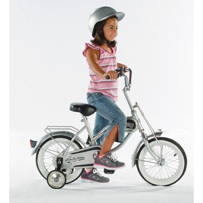 "Morgan Cycle 14"" Cruiser Bicycle With Training Wheels, Silver front-155654"