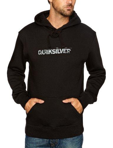 Quiksilver Hood Rib Logo-KPMSW96211L Men's Sweatshirt Black X-Large