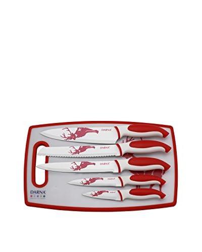 Darna Home Tabla De Cortar + 5 Cuchillos Cerámicos