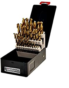 Professional Woodworker 52007 29-Piece Drill Bit Set, 20-Pack