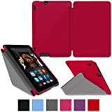 "rooCASE Kindle Fire HDX 8.9"" Origami SlimShell Case Cover - Red"