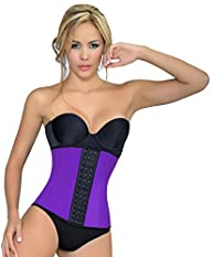 Ursula Women's Latex Sport Girdle Waist Trainer Corset Body Cincher Shapewear XS-4XL