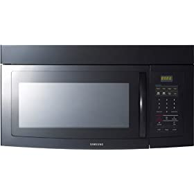 Samsung SMH1611B 1.6 cu. ft. Over-the-Range Microwave Oven with 180 CFM Venting System, 2-Stage Programmable Cooking, Auto Cook/Reheat and Convertible to Recirculating: Black