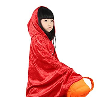 DAYAN Costume Women Girls Red Riding Hood Costume Velvet Hooded Cloak Cosplay Cape