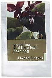 Linden Leaves Bathtime Bath Bag, Green Tea and Lime Leaf, 0.53 Ounce