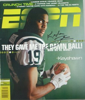 Keyshawn Johnson signed New York Jets ESPN Magazine at Amazon.com