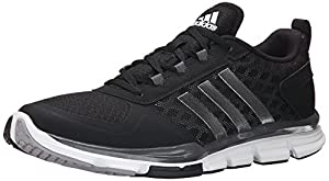 adidas Performance Men's Speed Trainer 2 Training Shoe, Black/White/Carbon Metallic, 11 M US