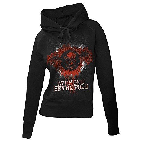 Avenged Sevenfold-Antique Hoodie-Felpa da donna con cappuccio nero XL