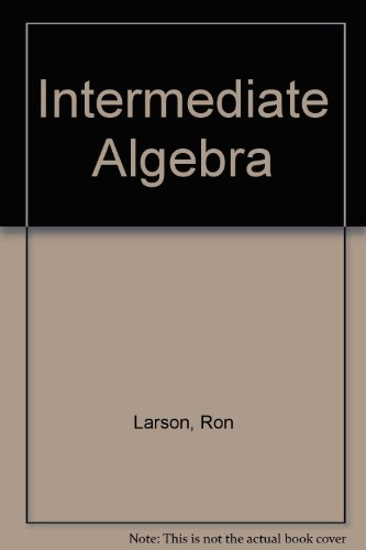 Intermediate Algebra Study And Solutions Guide, Third Edition