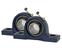 2 PIECES UCP205-16, 1 inch Pillow Block Bearing Solid Base, Self-Alignment, Brand NEW!