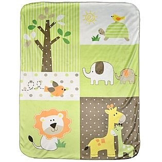 Jungle Print Valboa Baby Blanket - 30x 40 in