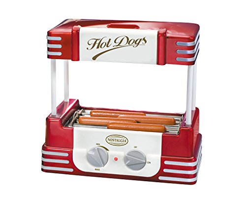 Nostalgia RHD800 Retro Series Hot Dog Roller with Bun Warmer (Electric Bun Warmer compare prices)