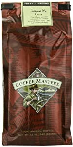 Coffee Masters Flavored Coffee, Jamaican Me Crazy, Ground, 12-Ounce Bags (Pack of 4)