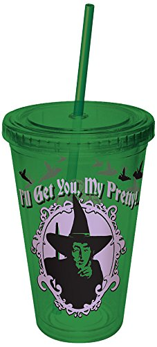 ICUP Wizard of Oz I'll Get You My Pretty 16oz. Plastic Cup with Straw