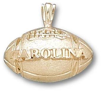 North Carolina Tar Heels Carolina Football Pendant - 14KT Gold Jewelry by Logo Art