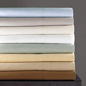 Hudson Park 600 Thread Count Egyptian Cotton Full Fitted Sheet Nickel