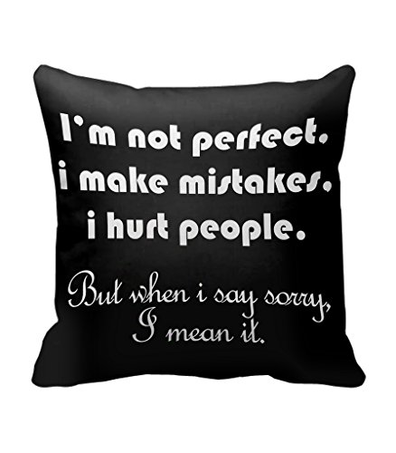 TIEDRIBBONS -Black Background I am Sorry Cushion Cover Gift For GirlFriend Gift For BoyFriend Gift For Friends Gift For Wife Gift For Hsusband Cushion Cover (12x12)inch with filler  available at amazon for Rs.280