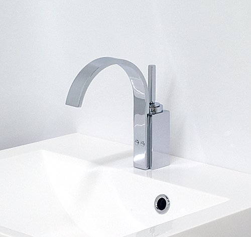Design bathroom basin faucet armature washbasin sink water tap 1-hand mixer with single control knob sanitary brass chrome plated water-tap for bathroom / usable as bath-fitting