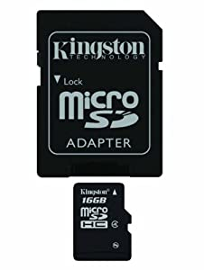 Professional Kingston MicroSDHC 16GB (16 Gigabyte) Card for Motorola FLIPOUT Phone with custom formatting and Standard SD Adapter. (SDHC Class 4 Certified)
