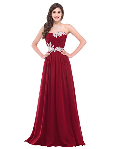 Sweetheart Long Prom Dress Red Full Length Size 4 CL6107-4