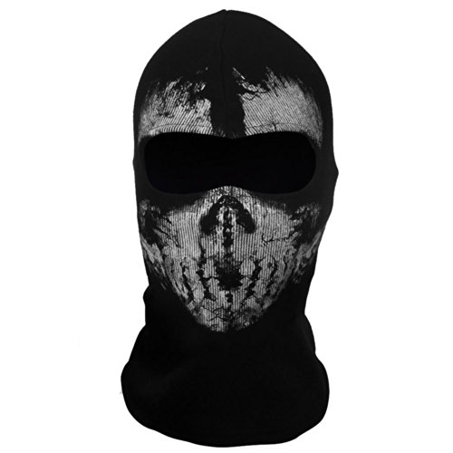 Tinksky Ghost Skull Balaclavas Skiing Cosplay Mask Hood 04 (Hood And Mask compare prices)