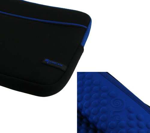rooCASE Wonderful Bubble Neoprene Sleeve Case for Sony VAIO YB Series VPCYB33KX 11.6-Inch Laptop (Dark / Dark Blue)