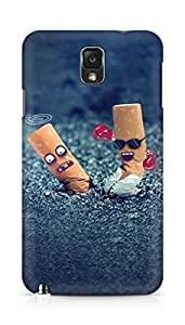 Amez designer printed 3d premium high quality back case cover for Samsung Galaxy Note 3 (Creative OH Yeah Cigarette End Design Art)